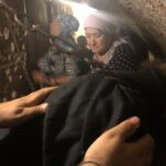 At the Ascetic Cell of St. Melania the Younger (the Roman) in the Old City of Jerusalem.  RTOC Pilgrimage of 2019