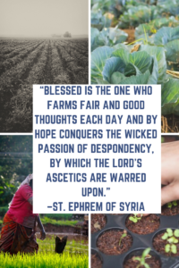 St. Ephrem farming good thoughts
