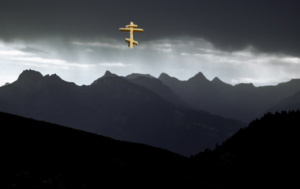 Tribulations, gloomy mountain and the Holy Cross