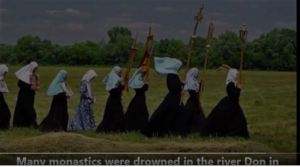 Nun threw icon in river
