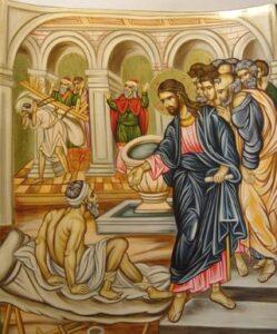 Christ heals Paralytic