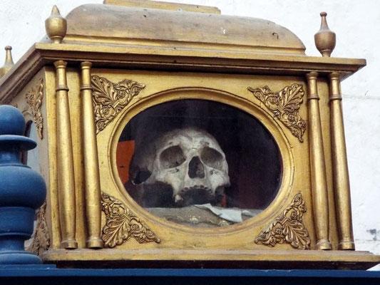 The skull relic of St. Richarius